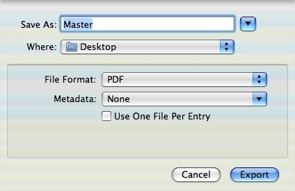 MacJournal Ebook export