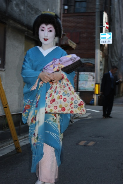 Geisha spotted in Gion, Kyoto