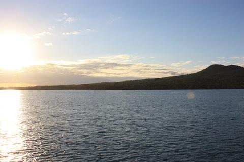 Rangitoto Island - view from Wiaheke Ferry