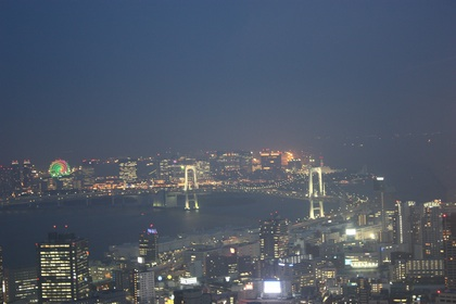 Odayba island by night, seen from Tokyo Tower