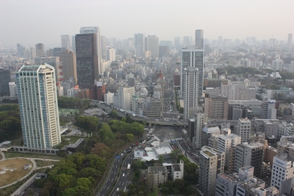 Tokyo view from Tokyo Tower