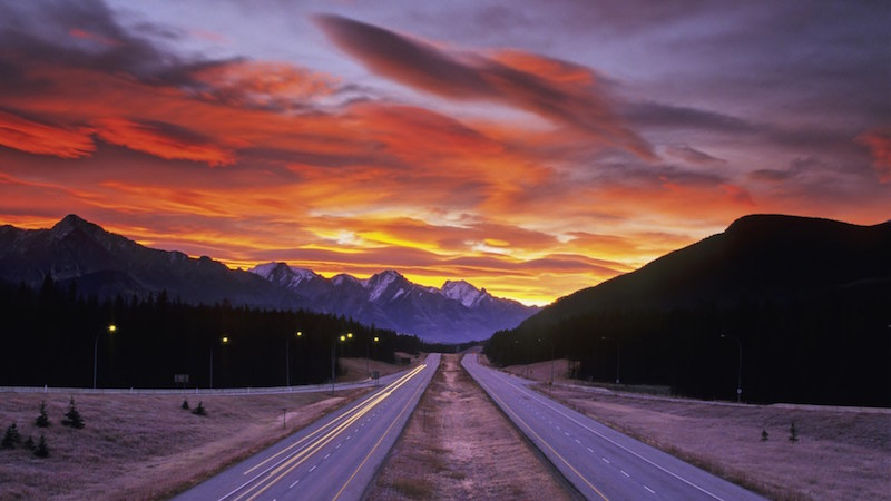 Nature Landscape Road Sunset Mountain Hd Wallpaper 1920x1080