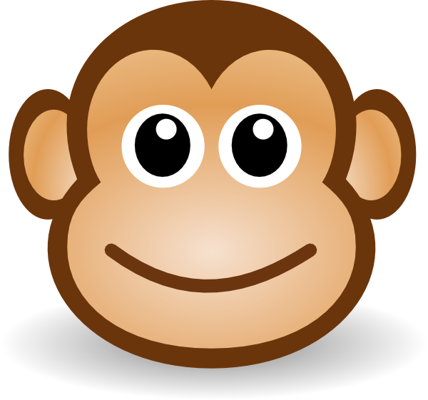 Happy Monkey Face Hi