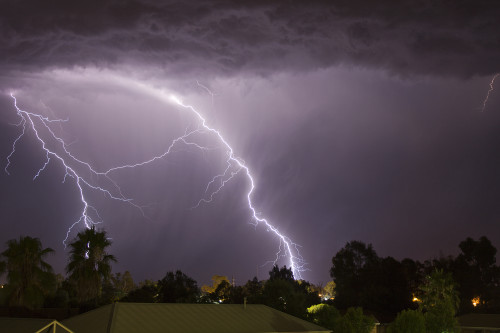 Cloud To Ground Lightning Strikes South West Of Wagga Wagga