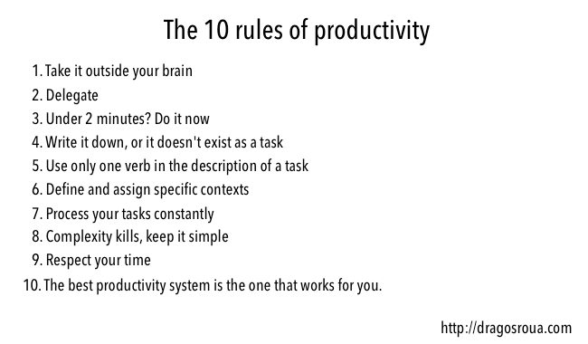 The 10 Golden Rules Of Productivity